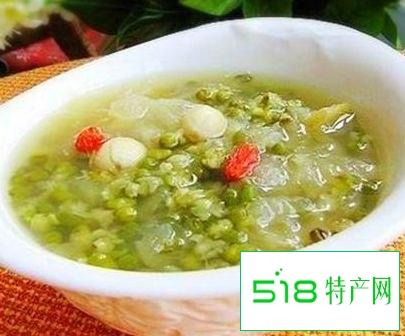 干咳、干燥喝绿豆蛋花汤